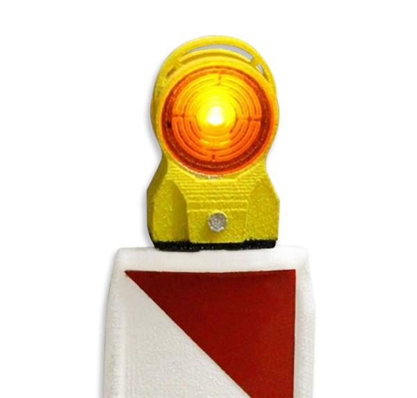 Warnleuchte gelb in 1:14,5 mit LED