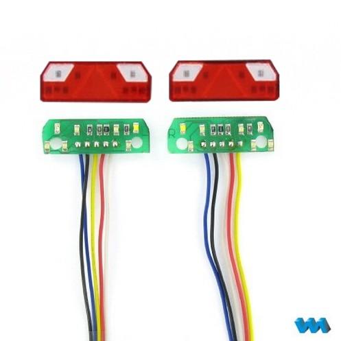 7-Kammer Rückleuchte mit Elektronik (LED) Platine