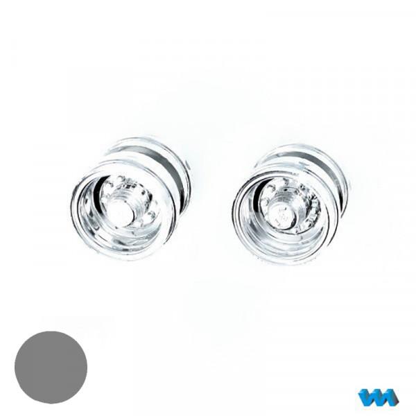 2 Stück Tieflader-Doppelfelgen Chrom