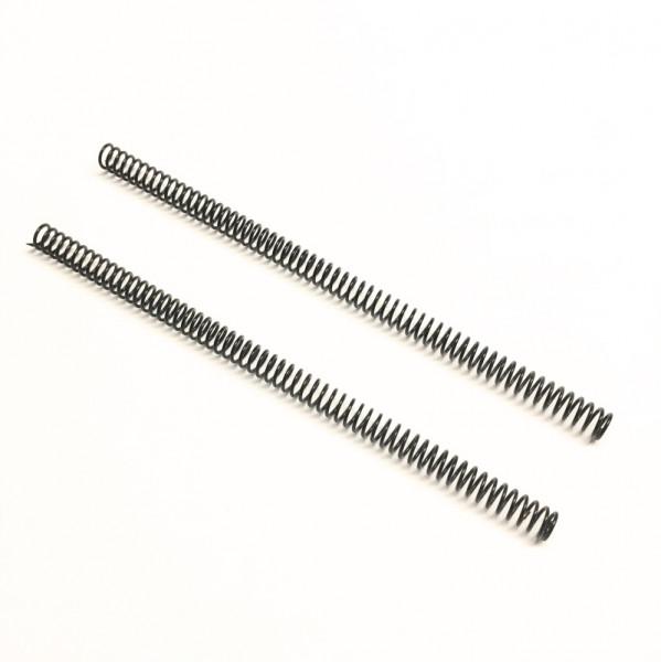 Paar Spiralfedern für die Rampen unseres Tiefladers, pulverbeschichtet